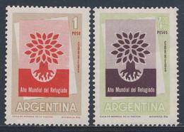 Argentina 1960 Mi 720 /1 YT 616 /7 Sc 710 /1 SG 969 /0 ** Emblem Weltflüchtlingsjahr / Uprooted Tree -World Refugee Year - Refugees