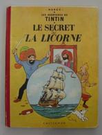 TINTIN LE SECRET DE LA LICORNE - 1954 - B9 - Hergé - Tintin