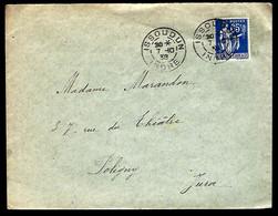 LETTRE EN PROVENANCE DE L'INDRE - ISSOUDUN - 1938 - - 1932-39 Paz