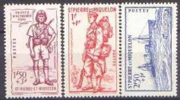 Détail De La Série Défense De L'Empire * Saint Pierre Et Miquelon N° 207 à 209 - 1941 Défense De L'Empire