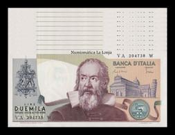 Italia Lot Bundle 10 Banknotes 2000 Lire Galileo Galilei 1983 Pick 103c SC UNC - 2000 Lire