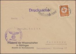 Orts-Drucksache Akademie Der Wissenschaften In GÖTTINGEN 7.12.1943 Nach Hannover - Other