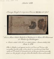 "Afghanistan: 1872. 1289 Tiger's Head Issue, 6 Shahi Reddish Purple (type 3), Used With Black ""seal"" - Afghanistan"