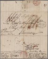 Indien - Vorphilatelie: India, Ca. 1800-1870, Thomas Fiott De Havilland, Lieutenant Colonel (1775-18 - ...-1852 Préphilatélie