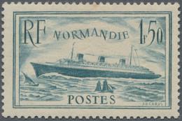 """Frankreich: 1935, Liner """"Normandie"""", 1.50 F. Unissued Colour Dark Bluish Green (bleu Vert Foncé), Un - Unused Stamps"""