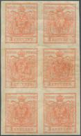 Österreich: 1850/54: 3 Kreuzer Stumpfrosa, Maschinenpapier Type III C, Im Senkrechten Ungebrauchten - Ongebruikt