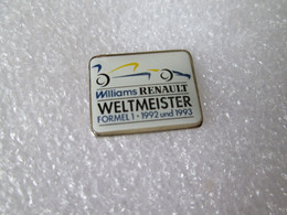 PIN'S    RENAULT  WILLIAMS  FORMULE 1  WELTMEISTER  1992 & 1993 - Renault