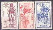 Détail De La Série Défense De L'Empire ** Niger N° 86 à 88 - 1941 Défense De L'Empire