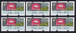 9 Empfangen - 6 ATM 45-450 Cent 2017, Tastensatz TS 1, Postfrisch ** - Distributors