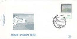 Enveloppe FDC 2417 Alfred Wilhelm Finch Diksmuide Douvres Peinture - 1991-00