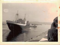 BATEAU ENTRANT AU PORT - PHOTO 12X9 - Barche