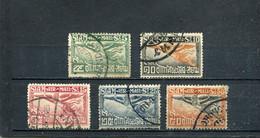 Siam 1925 Yt 3-7 Timbres Pour La Poste Aérienne - Siam