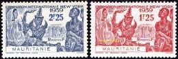 Détail De La Série Exposition Internationale De New York * Mauritanie N° 98 Et 99 - 1939 Exposition Internationale De New-York