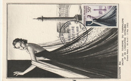 CARTE MAXIMUM - 1953 - Yvert N° 941 - HAUTE COUTURE PARISIENNE - 1940-49