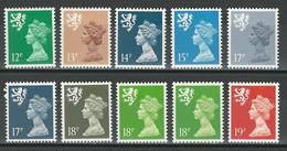 Scotland SG S 52, 53, 54, 56-60, 60a, 62 ** MNH - Scozia