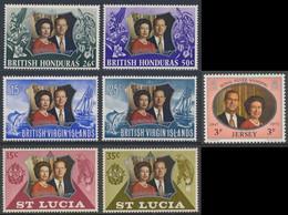 1972 Joint Issue / Gemeinschaftsausgabe - Royal Silver Wedding Queen Elizabeth II And Prince Philip / Silberhochzeit - Gezamelijke Uitgaven