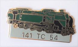 QQ70 Pin's SNCF TGV Train Micheline  Noire Vert 141 TC 54 Qualité Egf Signé Amicale De Beaumont Meurthe-et-Moselle - TGV