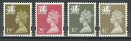 Wales SG W70, 73, 75, 77 ** MNH - Pays De Galles