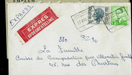 Env. (ent.)  Obl. Ch. De Fer  GRUPONT  11/08/71  Par Exprès - 1953-1972 Lunettes