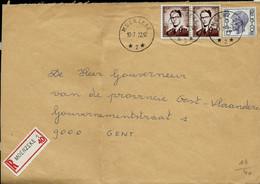 Env. (ent.)  Obl. MOERZEKE (étoiles)  Du 10/07/72  En Rec. - 1953-1972 Glasses
