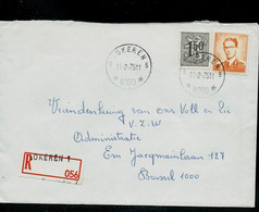 Env. (ent.)  Obl. LOKEREN - 5 - ( 9100 ) Du 11/02/75 ( étoiles) En Rec. - 1953-1972 Glasses