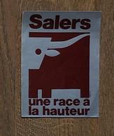AUTOCOLLANT STICKER - SALERS - UNE RACE A LA HAUTEUR - AGRICULTURE - ÉLEVAGE - VACHE - Pegatinas