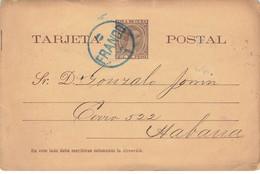 CUBA #28494 ENTIER POSTAL HABANA 1894 FRANCO - Other