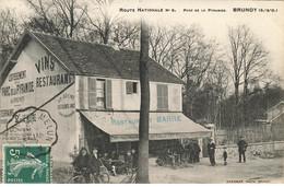 91 BRUNOY #26717 ROUTE NATIONALE PARC PYRAMIDE RESTAURANT BAR RENDEZ VOUS DE LA FORET - Brunoy
