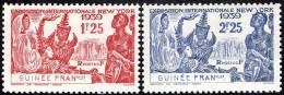 Détail De La Série Exposition Internationale De New York ** Guinée Française N° 151 Et 152 Gomme Coloniale - 1939 Exposition Internationale De New-York