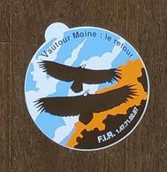 AUTOCOLLANT STICKER - VAUTOUR MOINE LE RETOUR - F.I.R. - PROTECTION NATURE OISEAUX ANIMAUX RAPACES - Stickers