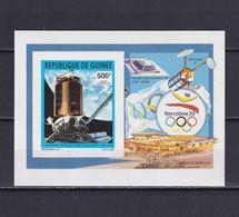 GUINEA 1992, Mi# Bl 438 B, Imperf, Space, Satellite, MNH - Guinea (1958-...)