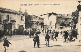 30 AIGUES VIVES #25308 ABRIVADE DES TAUREAUX - Aigues-Vives