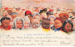 ENFANTS #27059 BEBES MULTIPLES WHO SAID SANTA CLAUS NOEL FETE VOEUX - Altri