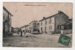 87 HAUTE VIENNE - CP ANIMEE RAZES - ROUTE DE PARIS - RABIER EDIT RAZES - CIRCULEE EN 1910 - Andere Gemeenten