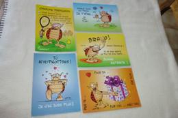 LOT DE 5 CARTES  LA COCCINELLE..... DE GOTLIB - 5 - 99 Postcards