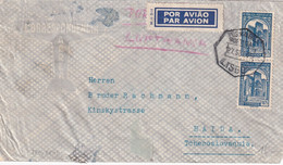 PORTUGAL 1957 PLI AERIEN DE LISBOA - Covers & Documents