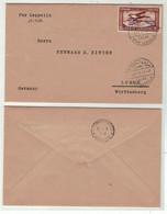 Egypte // Poste Aérienne // Vol Zeppelin Pour Lorch (Allemagne) Le 11.4.1931 - Zeppelins