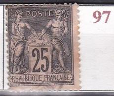 France Timbre De 1886 Sage YT 97 Oblitéré - 1876-1898 Sage (Type II)