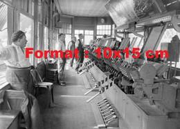 Reproduction D'une Photographie Ancienne De La Centrale D'aiguillage Gare Saint-Lazare Paris 1930 - Riproduzioni