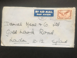 CANADA 1937 Air Mail Cover To London - Brieven En Documenten
