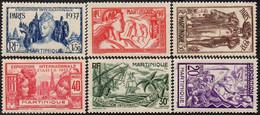 Détail De La Série Exposition Internationale De Paris ** Martinique N° 161 à 166 - 1937 Exposition Internationale De Paris