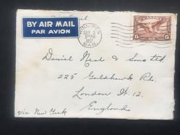 CANADA 1937 Air Mail Cover Winnipeg To London - Brieven En Documenten