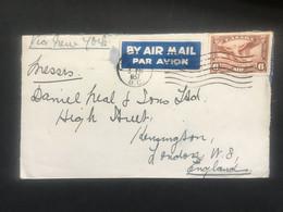 CANADA 1937 Air Mail Cover Victoria To London - Brieven En Documenten
