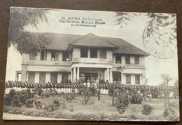 COSTA D'ORO - THE SCOTTISH MISSION HOUSE AT CHRISTIANBORG, ACCRA - GOLD COAST DE 11 1926 On The 1,5 D. To VERCELLI - Gold Coast (...-1957)