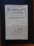 ESPAGNE - BARCELONA 1854 - LA ESPANA INDUSTRIAL - ACTION DE 2 000 Rs - Zonder Classificatie