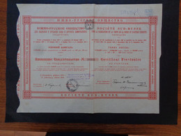 RUSSIE - ST PERSBOURG 1914 - STE SUD-RUSSE, FABRICATION, VENTE DE LA SOUDE... - CERTIFICAT PROVISOIRE DE 187,50 FRBLS - Zonder Classificatie