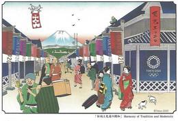 Japan - Postal Stationery (Postcard Real Circulated) - Tokyo 2020 - Harmony Of Tradition And Modernity - Postcards