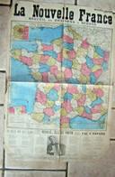 Journal Affiche Ancienne La Nouvelle France Lbonnes Chansons Carte Publicité HAYARD Vers 1930? Ramona Rosalie Est Partie - Musique