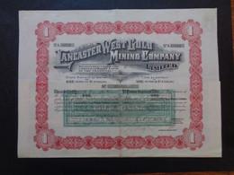 AFRIQUE DU SUD - LANCASTER WEST GOLD MINNING - TITRE DE 1  ACTION DE 1 £ - LONDRES 1909 - Zonder Classificatie