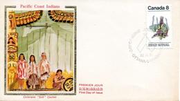 CANADA. N°524 De 1974 Sur Enveloppe 1er Jour. Costume De Cérémonie. - Indios Americanas